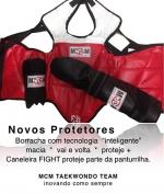Protetores - tórax taekwondo - caneleira taekwondo - antebraço taekwondo